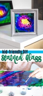kid friendly diy stained glass pin image