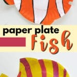 paper plate tropical fish pin image