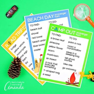 printable sheets fro scavenger hunt