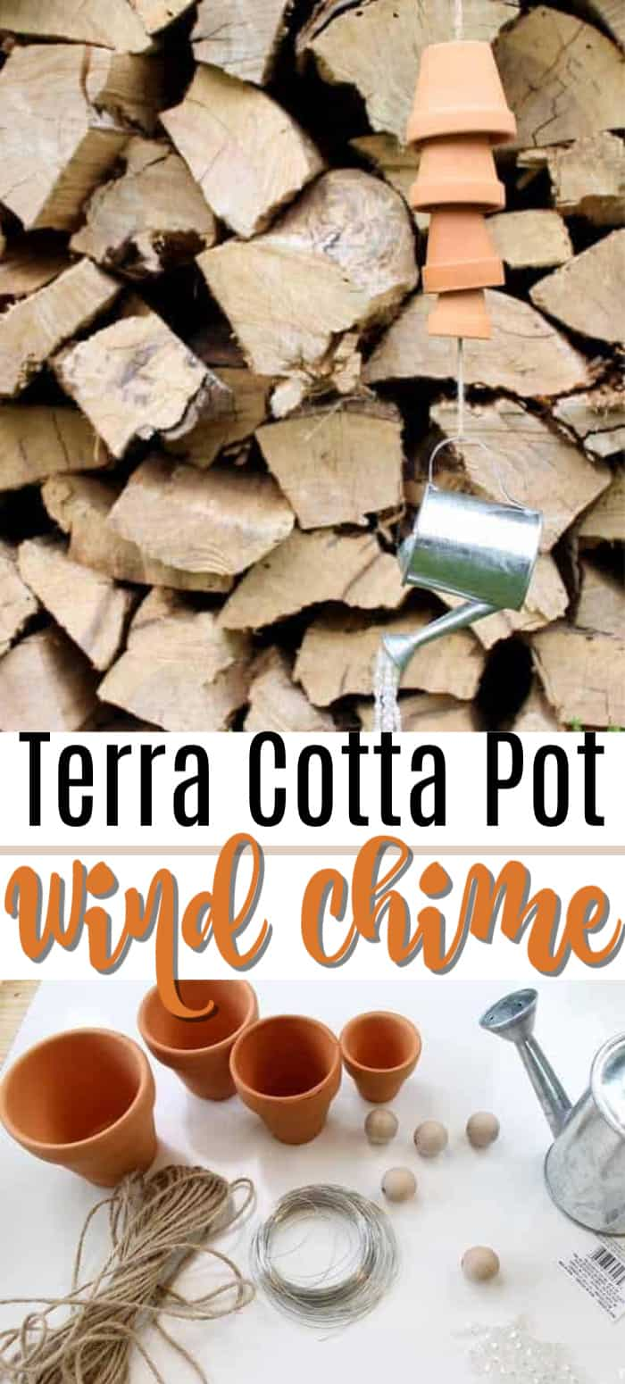 terra cot pot wind chimes pin image