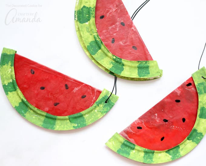 Watermelon suncatchers on transparent background