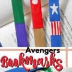 avengers bookmarks pin image