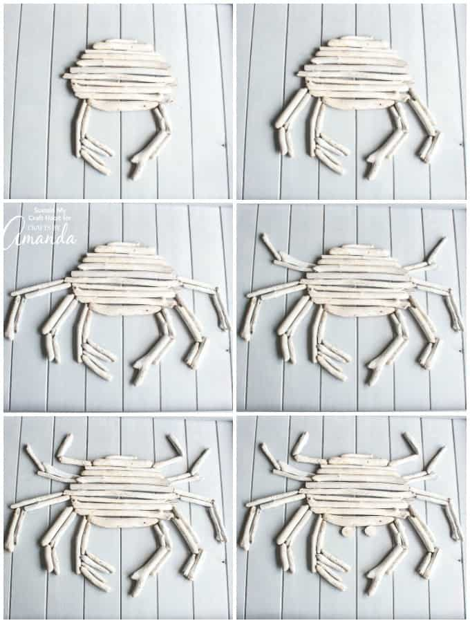 Creating driftwood crab wall art