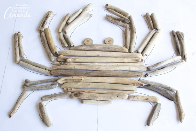crab made out of driftwood