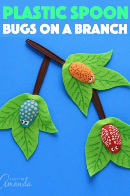 Plastic Spoon Bugs on a Branch Craft