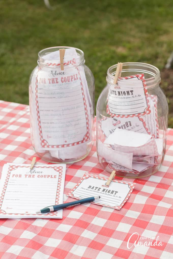 date night jar bridal shower