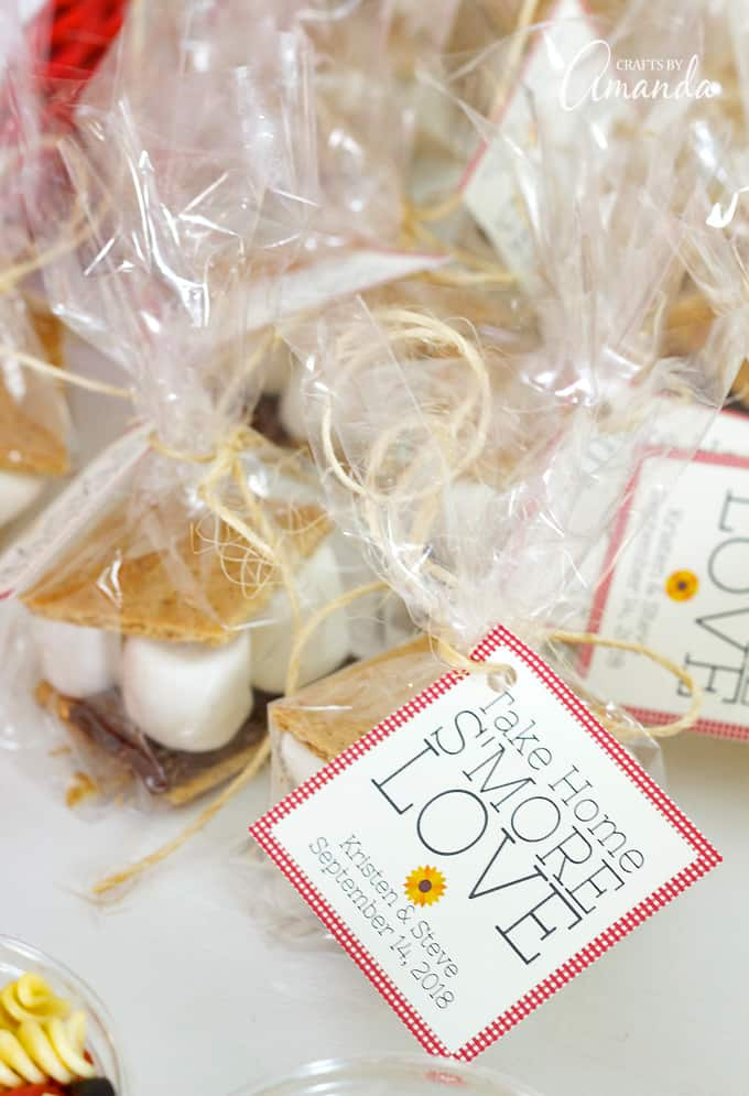 s'mores tags for favor bags
