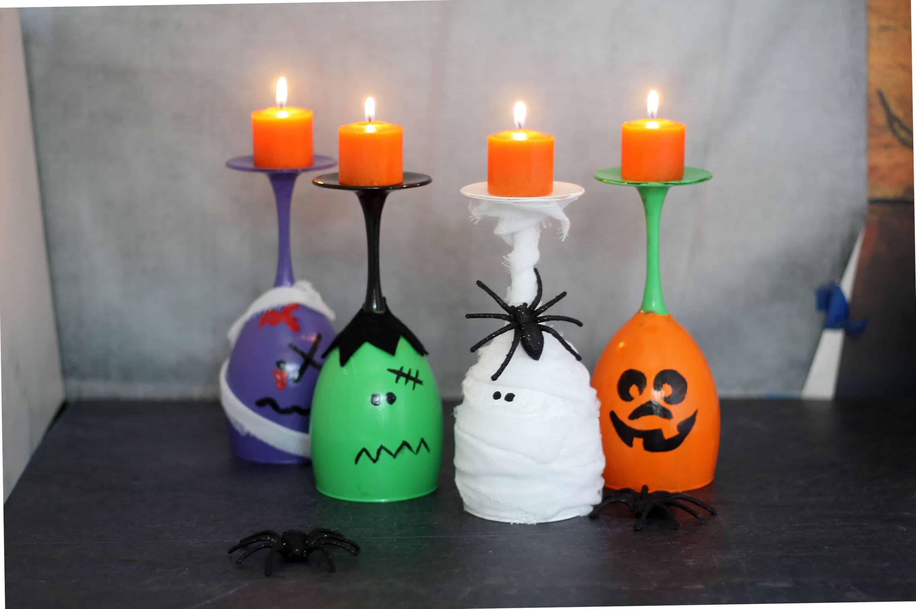 Halloween Wine Glass Candles The Cutest Diy Halloween Decor