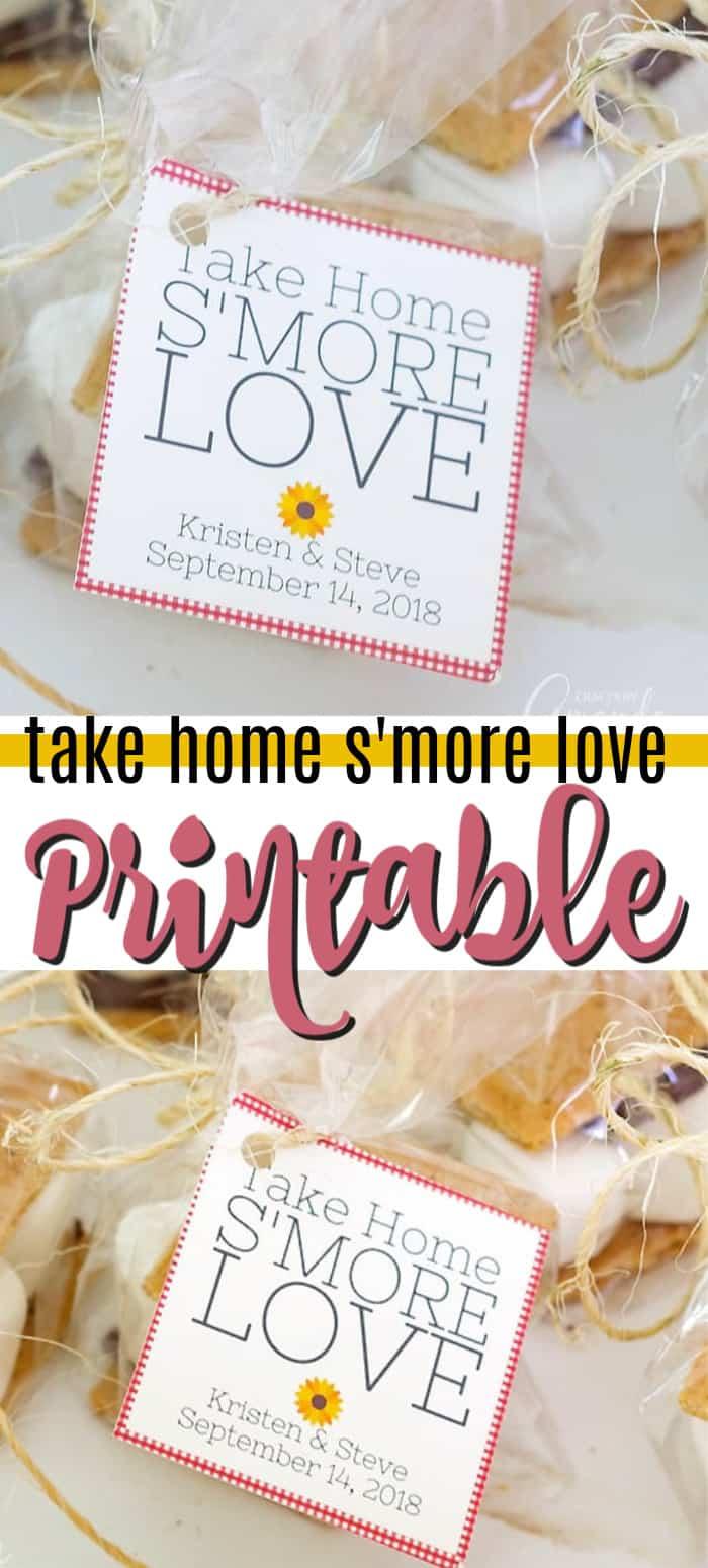 take home s'more love printable pin image