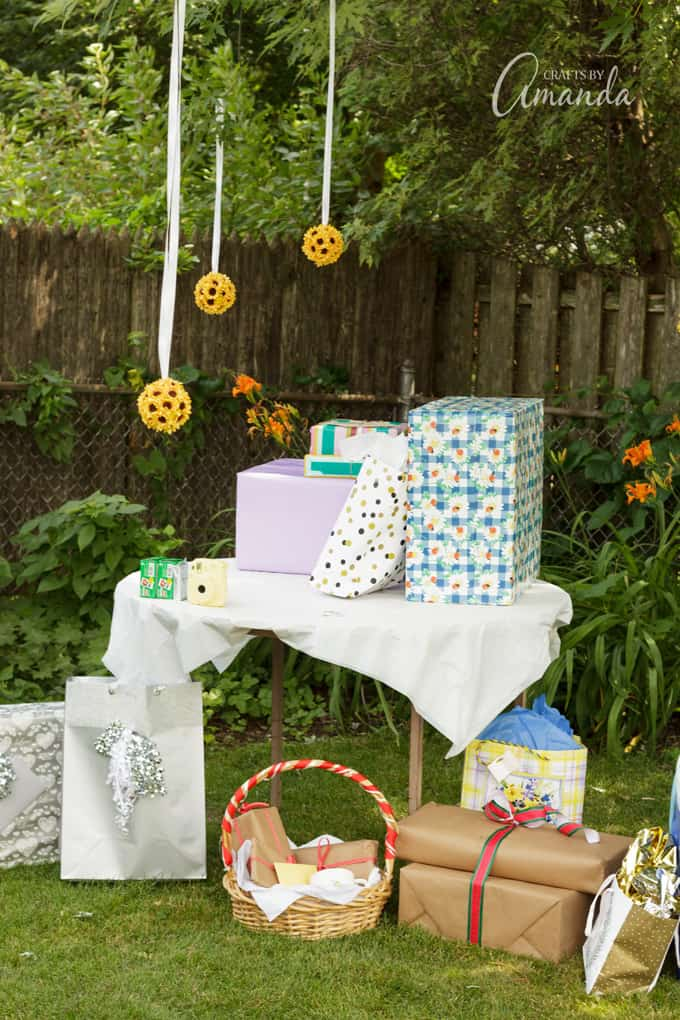 barbecue bridal shower gift table