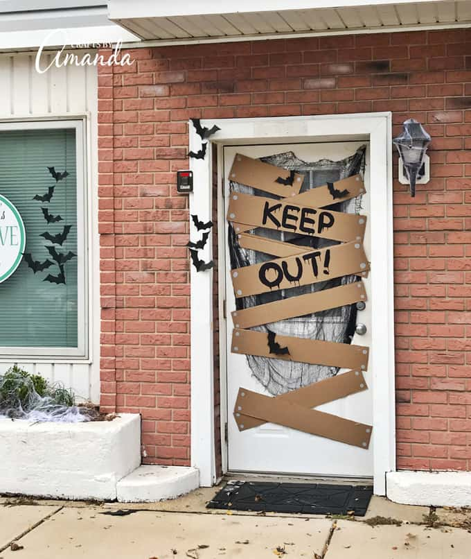 keep out halloween door decoration