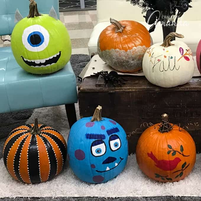 Painting Pumpkins for the Fall
