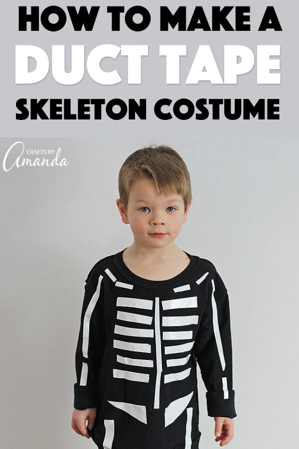 Duct Tape Skeleton Costume