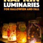 великолепные осенние и хэллоуинские светильники для каменщиков, сделанные из бумажных салфеток и модов