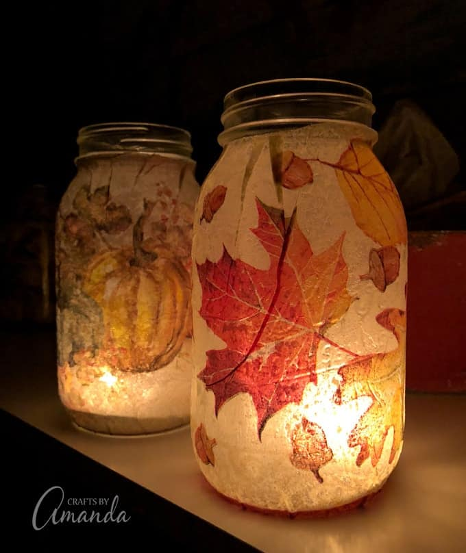 fall leaf luminary