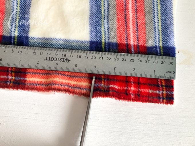 Use a ruler or measuring tape to measure
