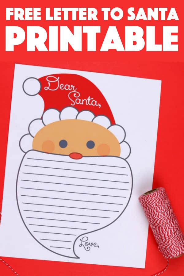 Letter To Santa Printable Print Off This Free Letter To