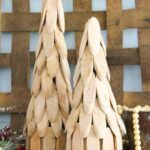 Rustic wood slice trees for Christmas