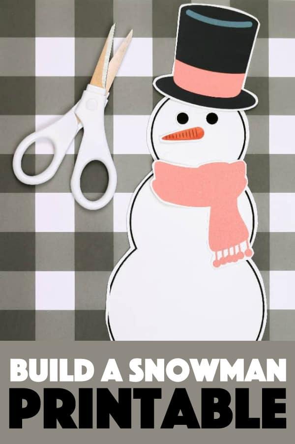 Build a Snowman Printable