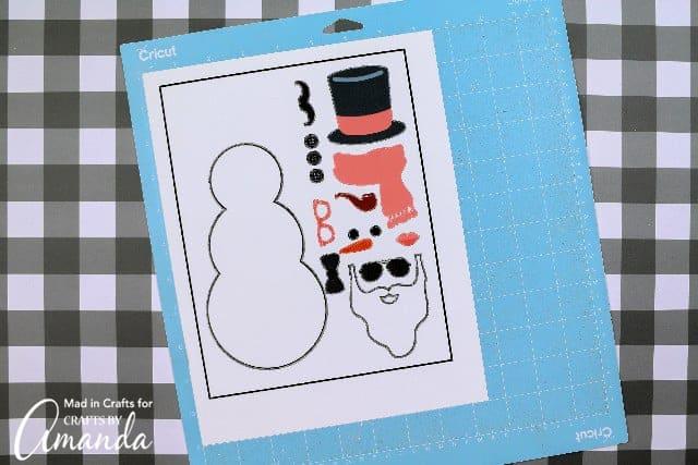 build a snowman printable before cutting
