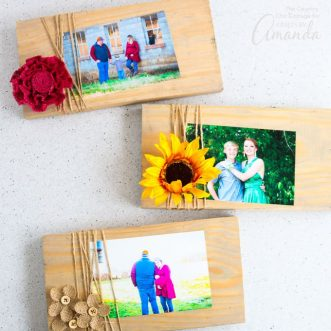 This scrap wood frames make the perfect gift giving DIY project! A homemade gift can save you money, and they're super easy to make!