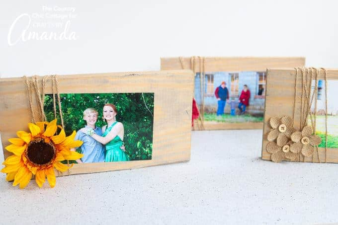 scrap wood frames with embellishments