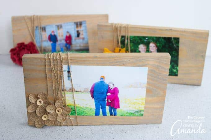 rustic scrap wood frame