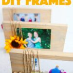 This scrap wood frames make the perfect gift giving DIY project! A homemade gift can save you money, and they're super easy to make! #giftideas #diygifts #homedecor #christmasgifts #christmascrafts #adultcrafts #scrapwood #pictureframes #photoideas #sunflower #rustic #woodcrafts #diy #easycrafts