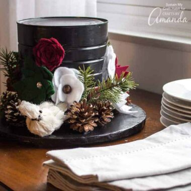 Snowman Hat Centerpiece