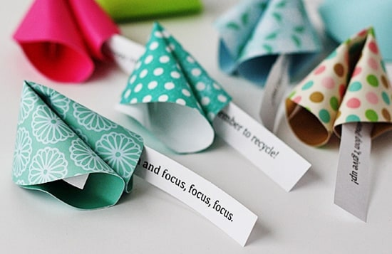 Fortune Cookies made out of paper