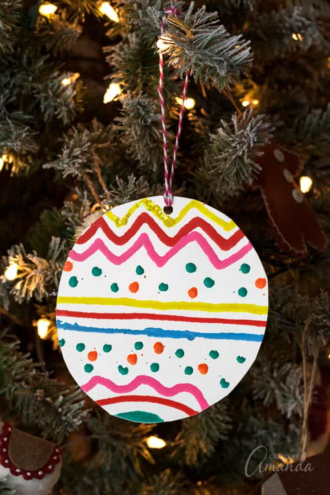 melted crayon ornament