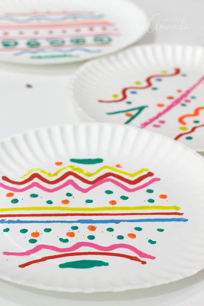 paper plates decorated