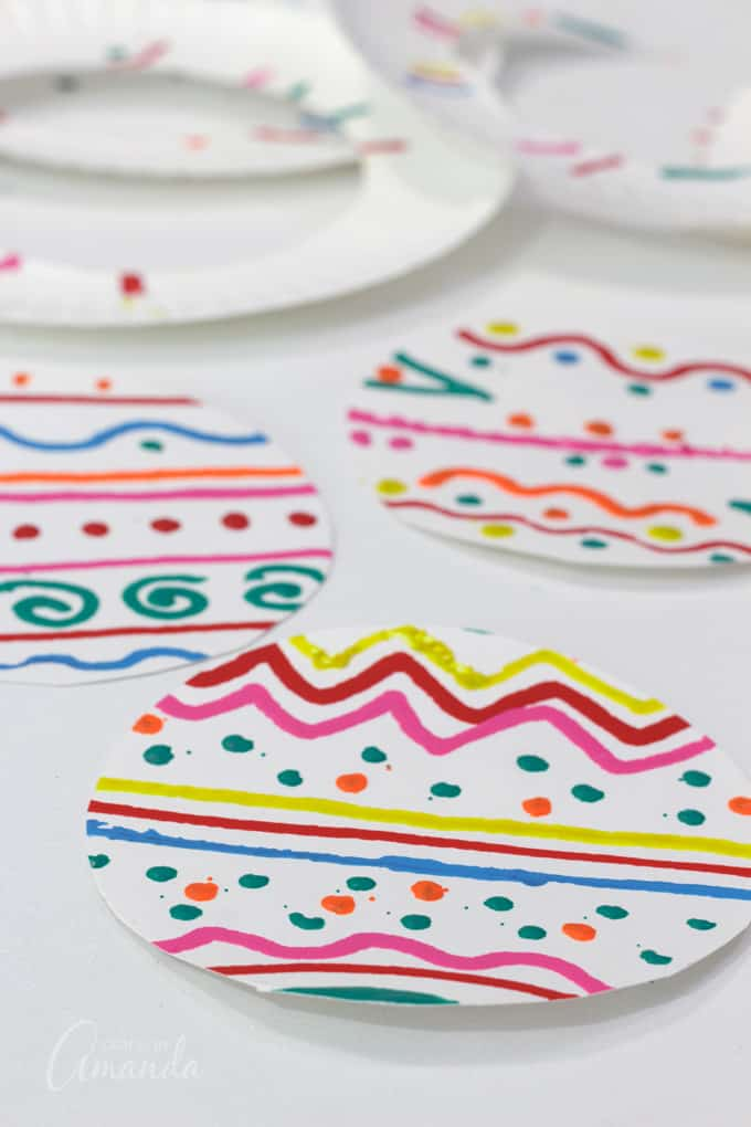 decorated paper plates cut out