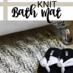 knit bath mat pin image