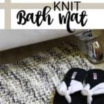 knit bath mat pin image