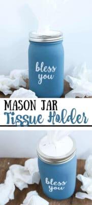 mason jar tissue holder pin image