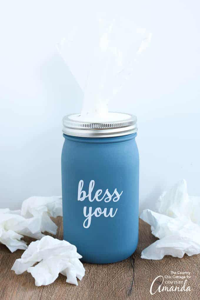 Mason Jar Kleenex Holder