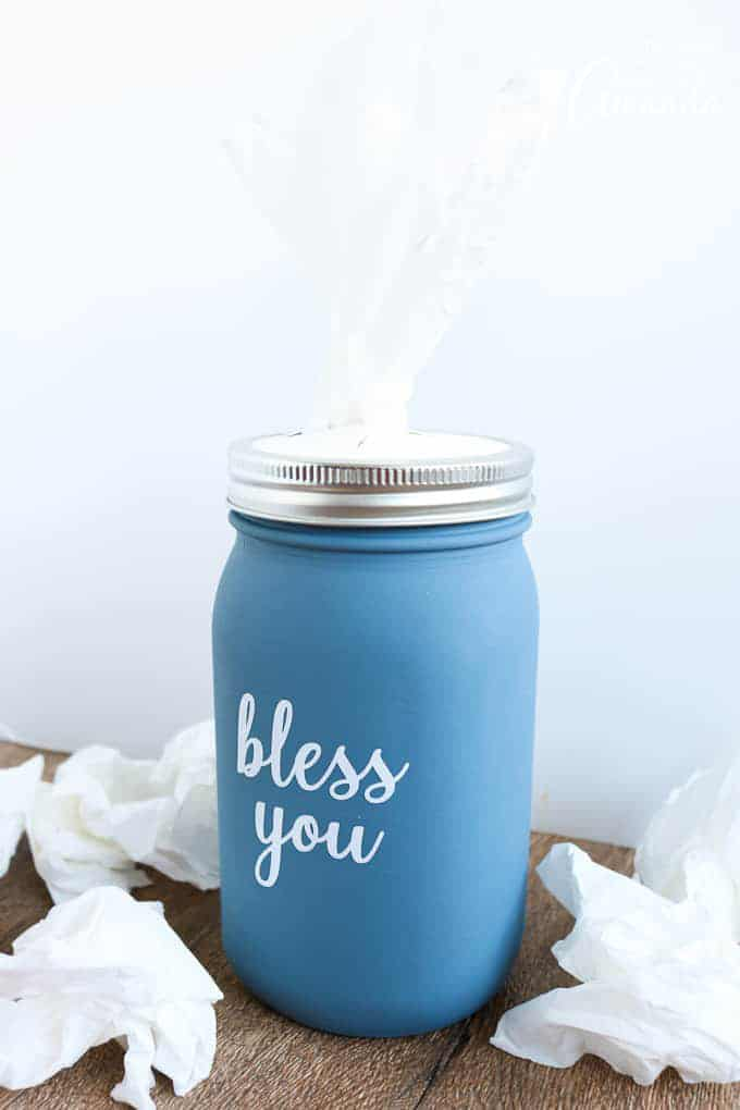 Mason Jar Tissue Holder craft
