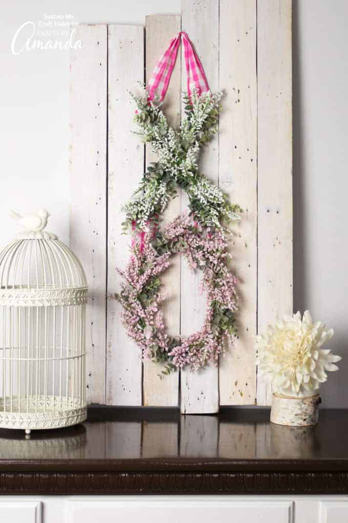 Soft pink and green XO valentine door decor