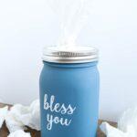 Make this mason jar tissue holder with a mason jar and a few supplies!