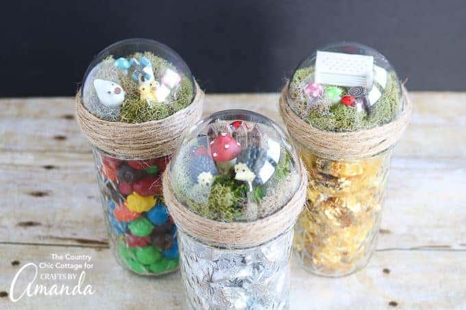 Fairy Garden Mason Jar Toppers An Adorable Homemade Gift Idea