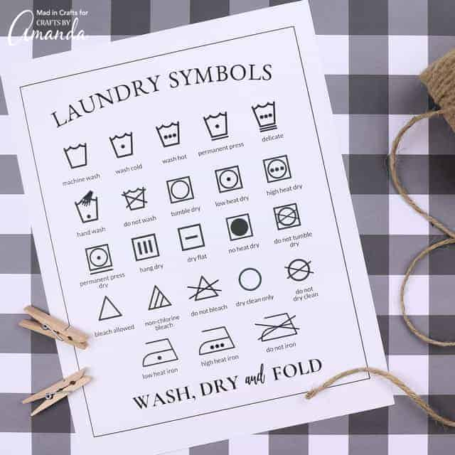 It's just a picture of Printable Laundry Symbols in college student
