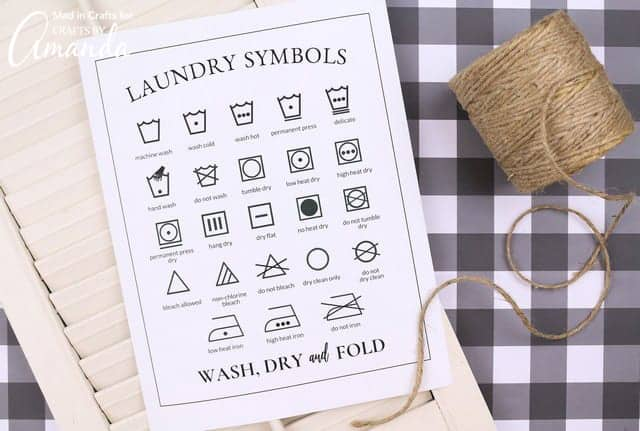 How to understand laundry symbols