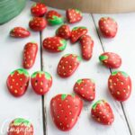 painted rock strawberries