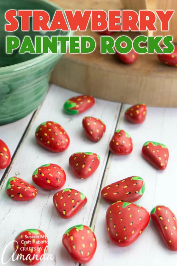 Strawberry Painted Rocks