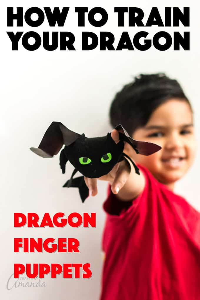 HOW TO TRAIN YOUR DRAGON FINGER PUPPETS