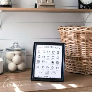 Laundry Symbols Printable Square