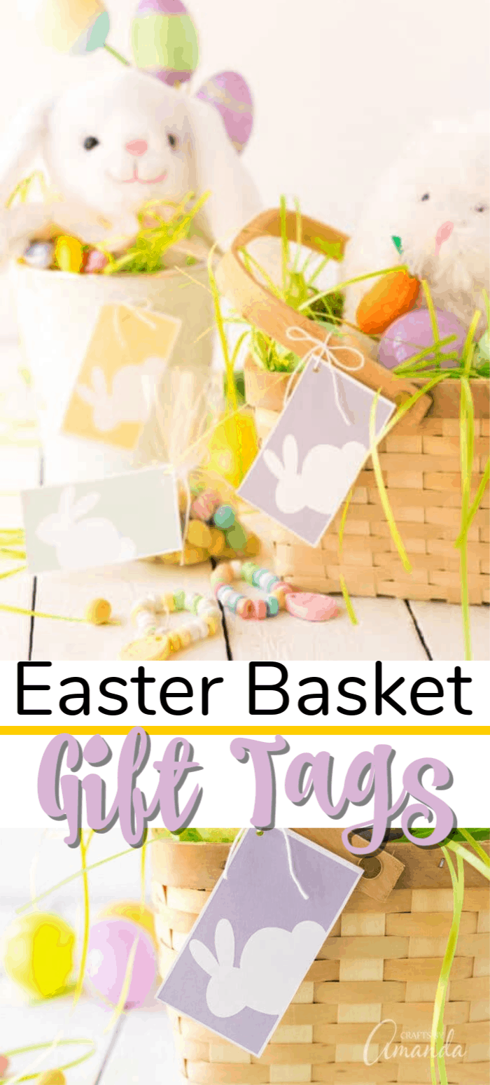 easter baskets with gift tags