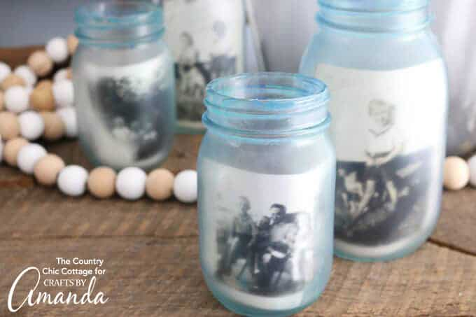 How to make mason jar photo frames