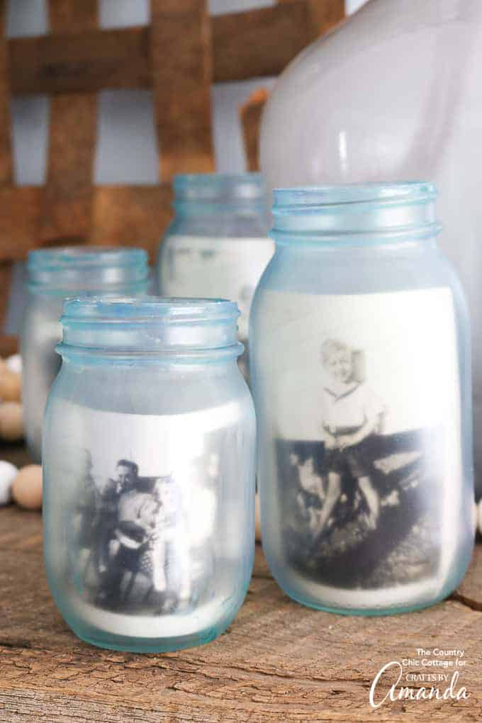 Mason Jar Photo Frames